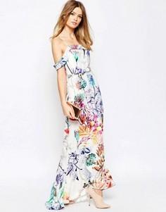 Платье макси с цветочным принтом ASOS WEDDING - Мульти