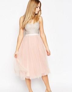 Балетное платье с декорированным лифом Needle & Thread Coppelia - Розовый