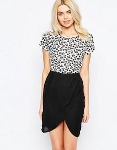Платье с запахом на юбке Sugarhill Boutique Clara - Черный
