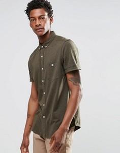 Трикотажная рубашка классического кроя цвета хаки ASOS - Зеленый