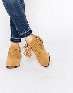 Бежевые замшевые ботинки в стиле вестерн для широкой стопы ALDO Wadia - Бежевый