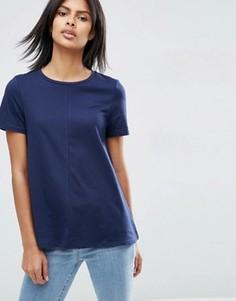 Свободная футболка ASOS - Темно-синий