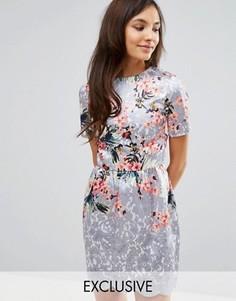 Платье миди с рельефной кромкой Hope and Ivy - Мульти