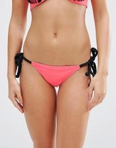 Эксклюзивные плавки бикини с завязками макраме по бокам ASOS FULLER BUST - Мульти
