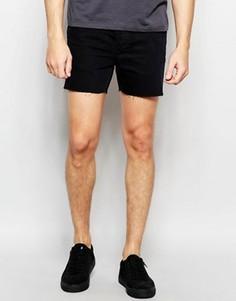Короткие джинсовые шорты Religion - Черный