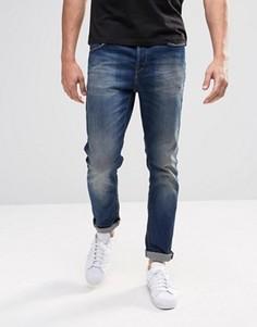 Темные джинсы слим Only & Sons - Синий