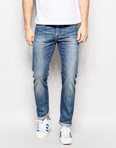 Суженные книзу джинсы слим Edwin Jeans ED-80 - Синий