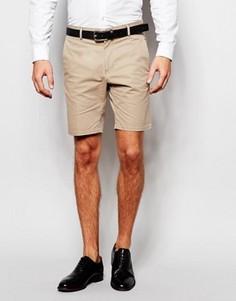 Хлопковые шорты строгого кроя Vito - Бежевый