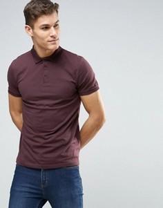 Бордовая футболка‑поло ASOS - Красный
