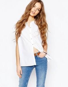 Рубашка на пуговицах спереди со складками сзади M.i.h. Jeans - Белый