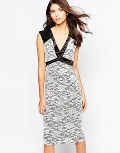 Кружевное платье миди Vesper Jayden - Черный