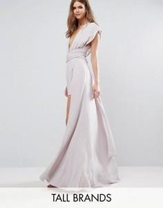 Платье--трансформер Fame And Partners Tall Ainsley - Серый
