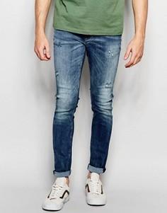 Синие джинсы скинни Jack & Jones Intelligence - Синий