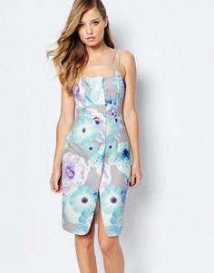 Платье-футляр с цветочным принтом и бретельками Ginger Fizz - Мульти