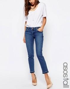 Синие джинсы бойфренда с необработанными краями ASOS TALL Kimmi - Синий