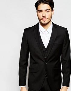 Эластичный пиджак кроя слим Vito - Черный