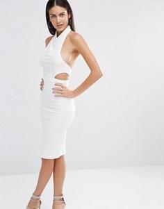 Платье миди со свободным воротом Missguided - Белый