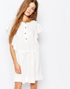 Жаккардовое платье с поясом Vanessa Bruno Athe - Кремовый