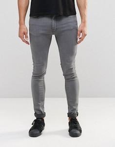 Серые облегающие джинсы LDN DNM - Серый
