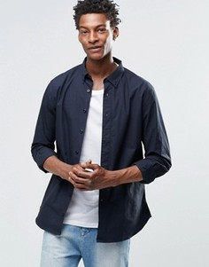 Рубашка с воротником на пуговицах YMC - Черный