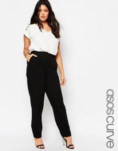 Прямые брюки ASOS CURVE - Черный