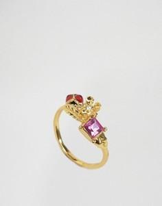 Кольцо с цветком и божьей коровкой Bill Skinner - Золотой