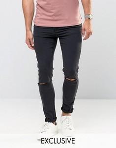 Черные рваные джинсы скинни Cheap Monday - Черный