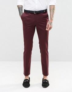 Супероблегающие эластичные брюки с контрастной окантовкой Noose & Monkey - Красный