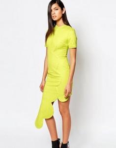 Платье с асимметричным фигурным подолом The 8th Sign - Желтый