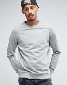Свитшот из серой меланжевой ткани ASOS - Серый