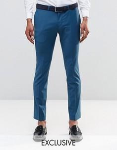Стретчевые супероблегающие брюки Noose & Monkey - Зеленый