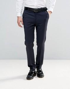 Зауженные брюки под смокинг ASOS - Темно-синий