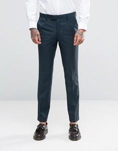Зеленые облегающие брюки Farah - Черный