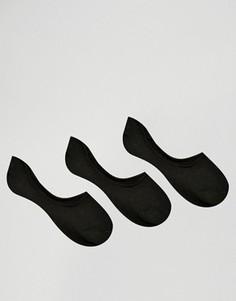 3 пары носков‑следков из ткани премиум‑класса ASOS - Черный