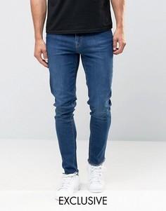 Винтажные джинсы скинни с необработанным краем Brooklyn Supply Co Dumbo - Синий