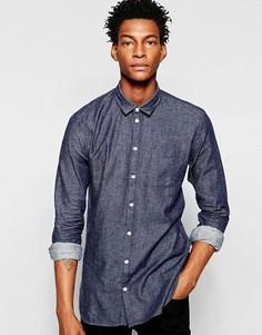 Рубашка из необработанного денима Minimum - Синий