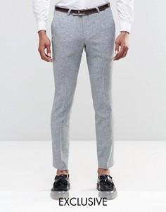 Супероблегающие брюки строго кроя в крапинку Noose & Monkey - Серый