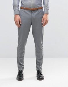 Серые премиум-брюки скинни Jack & Jones - Серый
