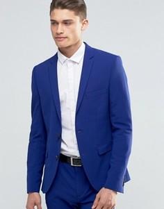 Супероблегающий пиджак Selected Homme - Синий