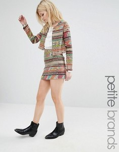 Мини-юбка с ацтекским принтом Glamorous Petite - Мульти