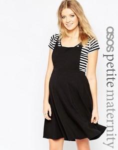 Сарафан для беременных ASOS Maternity PETITE - Черный