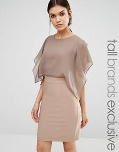 Платье-футляр с расклешенными рукавами True Decadence Tall - Фиолетовый