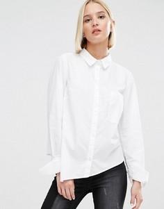 Рубашка с асимметричной нижней кромкой Cheap Monday - Белый