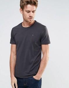 Меланжевая футболка с круглым вырезом Tommy Hilfiger Denim - Черный
