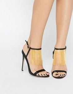 Босоножки на каблуке ASOS HALF MOON - Черный