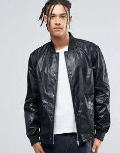 Легкая фактурная куртка‑пилот черного цвета ASOS - Черный