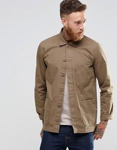 Рубашка навыпуск цвета хаки с длинными рукавами ASOS - Зеленый