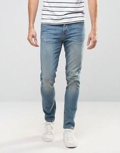 Голубые джинсы скинни из денима плотностью 12,5 унц ASOS - Синий