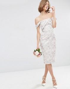Жаккардовое платье‑футляр миди ASOS WEDDING - Мульти