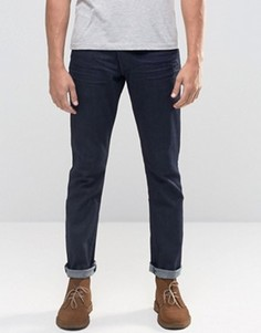 Темные джинсы слим Wrangler Larston - Темно-синий